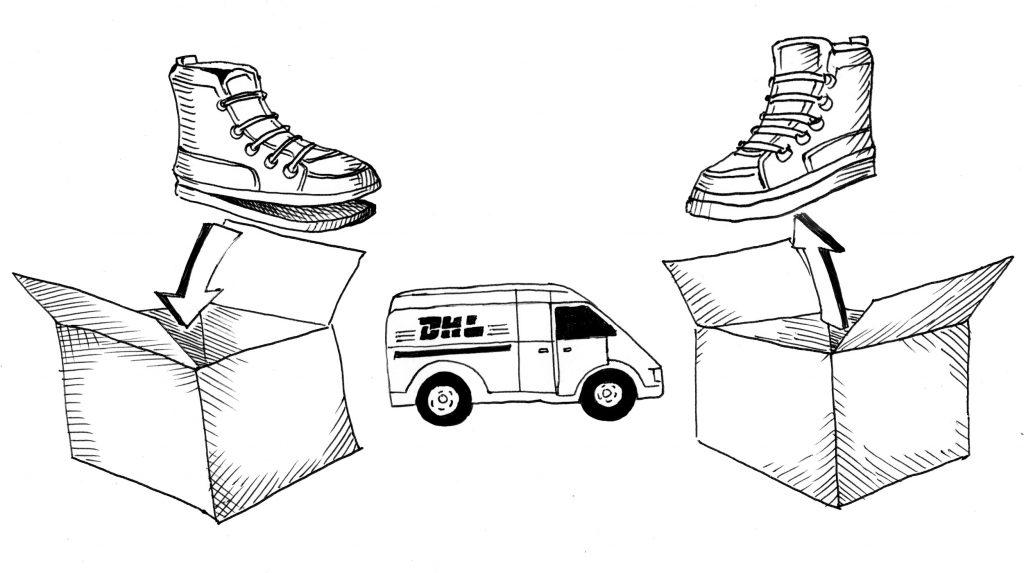 Schuhreparatur Online-Versand