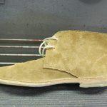Schuh mit wieder angeklebter Sohle